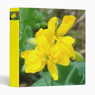 F0044 Yellow Wildflowers Wild Mustard Binders