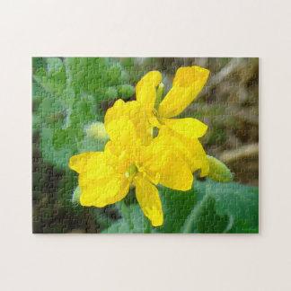 F0044 Yellow Wildflowers Wild Mustard Jigsaw Puzzle
