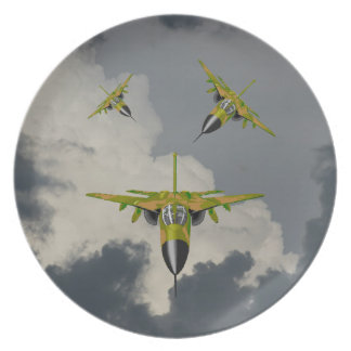 F111 FIGHTERS IN YOUR FACE DINNER PLATES
