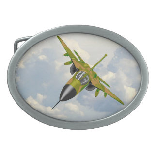 F111 IN YOUR FACE OVAL BELT BUCKLES