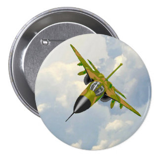 F111 IN YOUR FACE PINBACK BUTTON