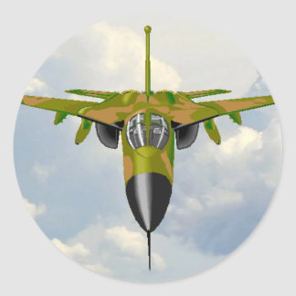 F111 IN YOUR FACE ROUND STICKER