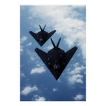 F117A's in flight Poster