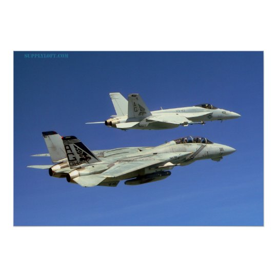 F14 and F18 Poster