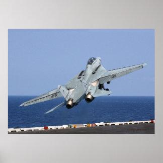 F14 catapulta en el cielo impresiones