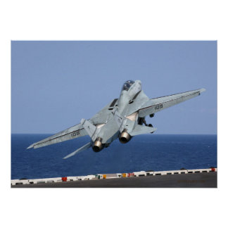 F14 catapulta en el cielo póster