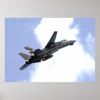 F14 sube hacia el cielo póster