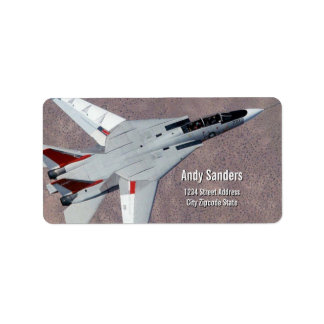 F14 Tomcat Jet Fighter Personal Address Label