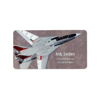 F14 Tomcat Jet Fighter Personal Address Label