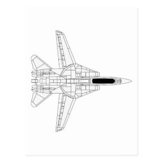 F14 Tomcat - Top Postcard