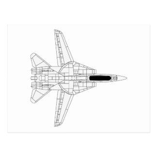 F14 Tomcat - top Tarjeta Postal