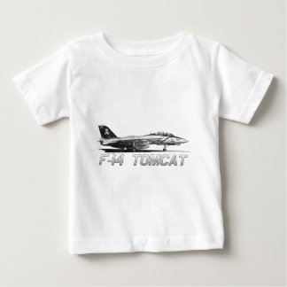 F14 Tomcat VF-103 Jolly Rogers - drawing Baby T-Shirt