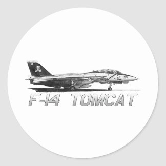 F14 Tomcat VF-103 Jolly Rogers - drawing Classic Round Sticker