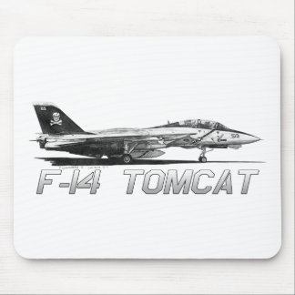 F14 Tomcat VF-103 Jolly Rogers - drawing Mouse Pad