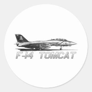 F14 Tomcat VF-103 Rogers alegre - dibujo Pegatina Redonda