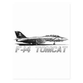 F14 Tomcat VF-103 Rogers alegre - dibujo Tarjeta Postal
