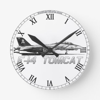 F14 Tomcat VF-103 Rogers alegre - reloj del dibujo