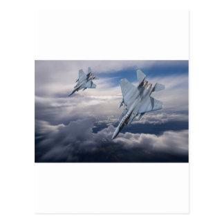 F15 Pair Diving Postcard