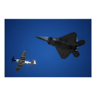 F16 and Mustang Poster