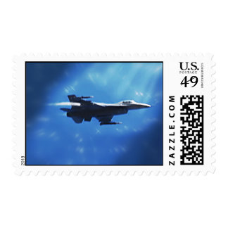 F16 Falcon Fighter Jet Postage Stamps