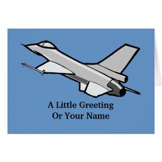 F16 Fighting Falcon Fighter Jet In Flight Card