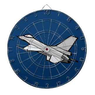 F16 Fighting Falcon Fighter Jet In Flight Dart Boards