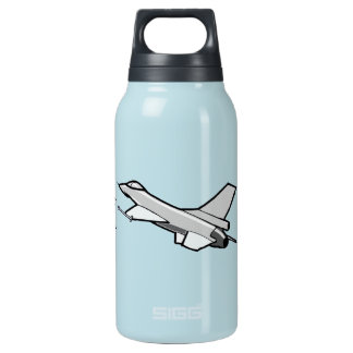 F16 Fighting Falcon Fighter Jet In Flight Insulated Water Bottle