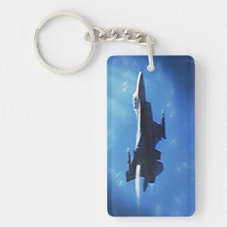 F16 Fighting Falcon Fighter Jet In Flight Keychain