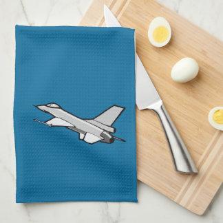 F16 Fighting Falcon Fighter Jet In Flight Hand Towel