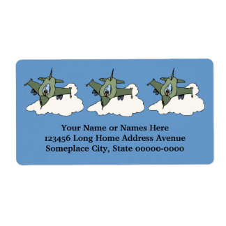 F16 Fighting Falcon Fighter Jet In Flight Personalized Shipping Label