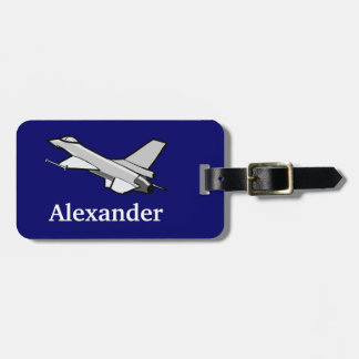 F16 Fighting Falcon Fighter Jet In Flight Bag Tags