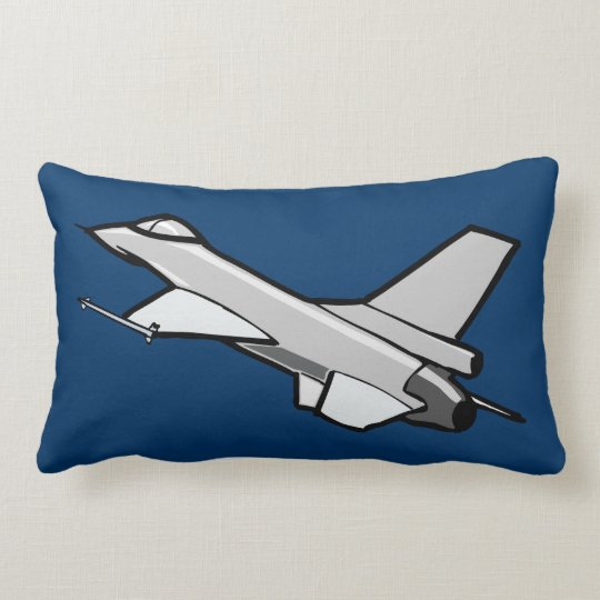 F16 Fighting Falcon Fighter Jet In Flight Lumbar Pillow