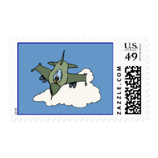 F16 Fighting Falcon Fighter Jet In Flight Stamps