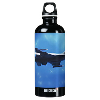 F16 Fighting Falcon Fighter Jet In Flight Water Bottle