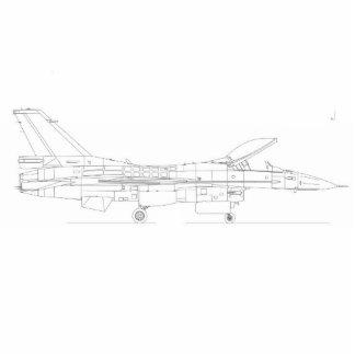 F16 Fighting Falcon Schematic Photo Cutouts