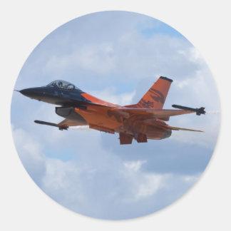F16 Fighting Falcon Round Sticker
