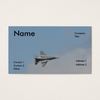 F16 water vapor business card