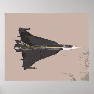 F16 XL NASA Aircraft - Digital Art Collection Poster