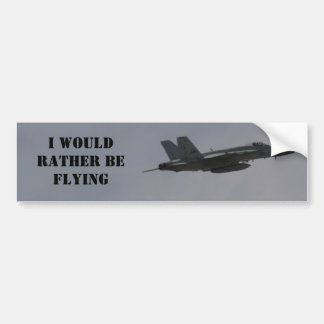 F18 Hornet Fighter Jet In Flight Car Bumper Sticker