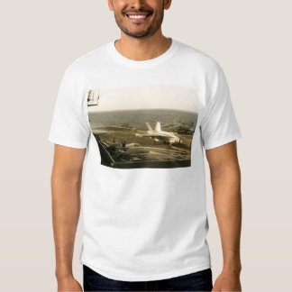 F18 Hornet Landing On The USS MIDWAY T Shirt