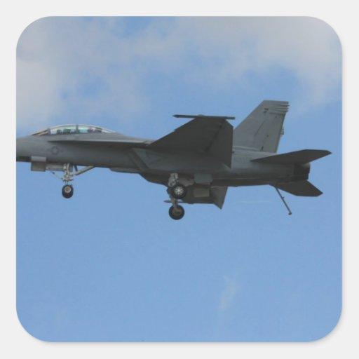 F18 landing mode square stickers