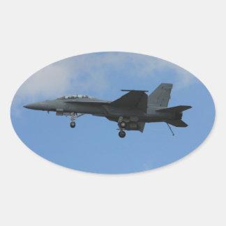 F18 landing mode oval sticker