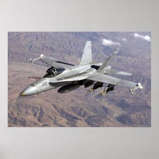 F18 sobre Afganistán Póster