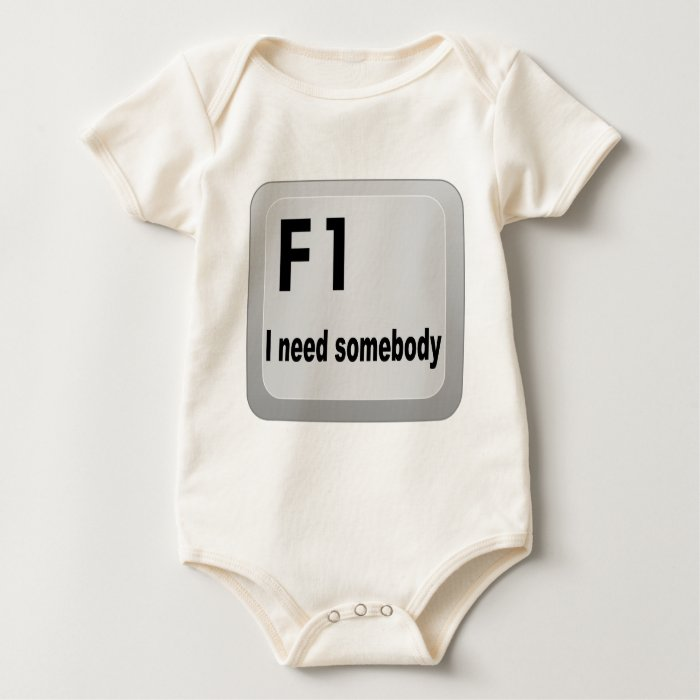F1 I need somebody Baby Bodysuit