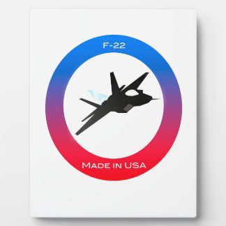 f22 Aircraft Plaque