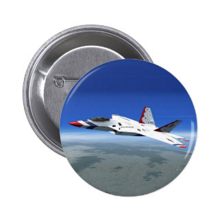 F22 Raptor Blue Angels Jet Fighter Plane Button