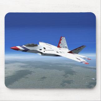 F22 Raptor Blue Angels Jet Fighter Plane Mousepad