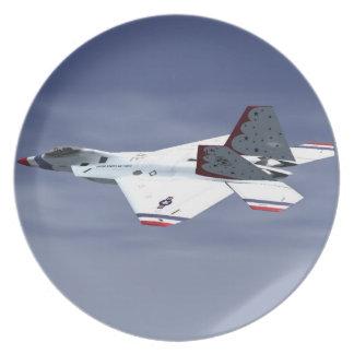 F22 Raptor Blue Angels Jet Fighter Plane Plate