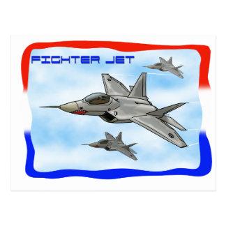 F22 Raptor fighter jet Postcard