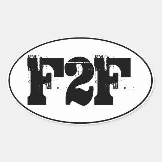 F2F Euro-style Oval Sticker